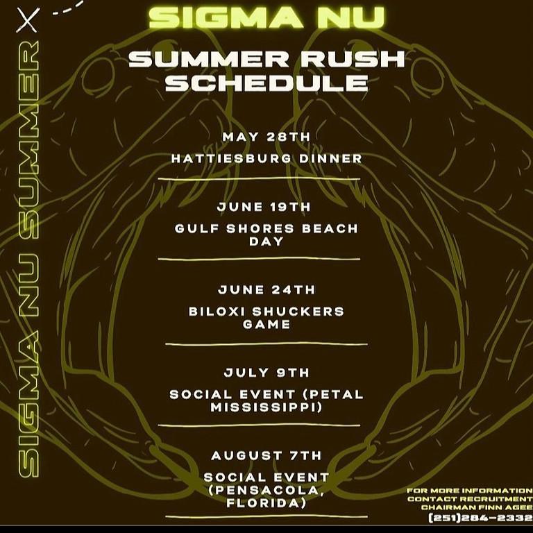 Sigma Nu   Summer Recruitment