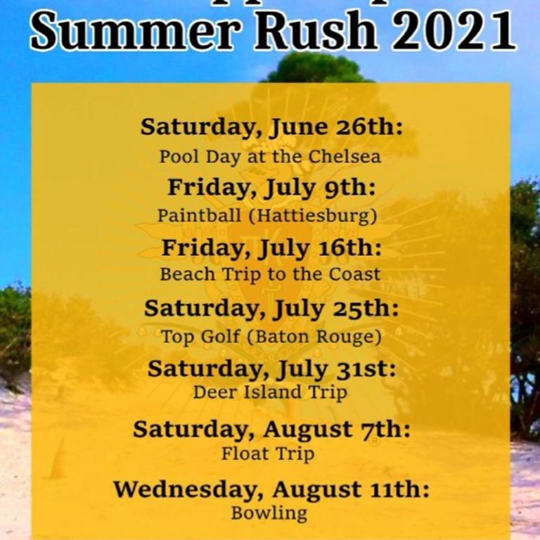 Pi Kappa Alpha   Summer Recruitment