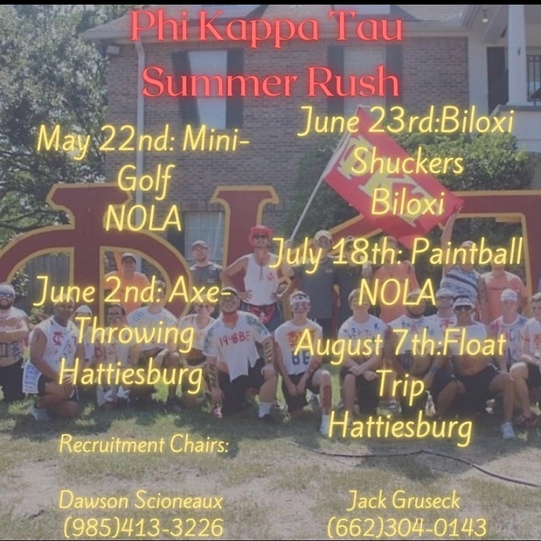 Phi Kappa Tau   Summer Recruitment