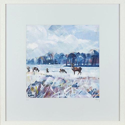 'Snow Study in Park' 50x50cm