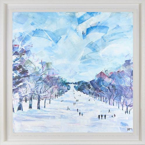 'Long Walk, Winter' 80x80cm