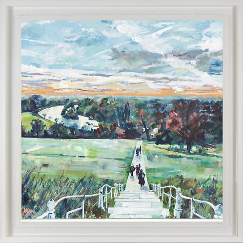 'Sunset Richmond Hill' 80x80cm