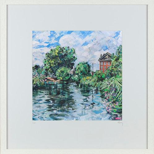 'Barnes Pond' 50x50cm