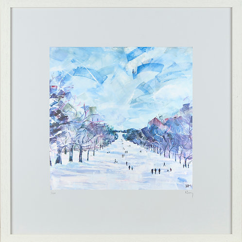'Long Walk, Winter' 50x50cm