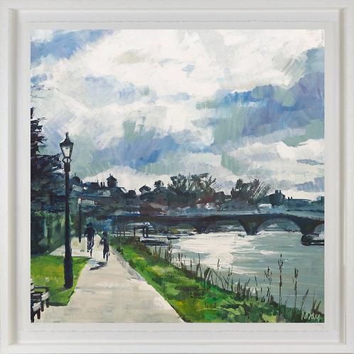 'Thames Towpath' 80x80cm