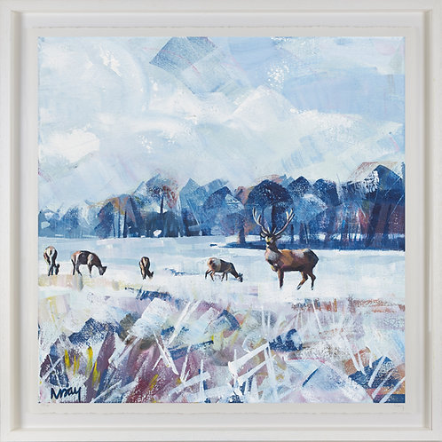 'Snow Study in Park' 80x80cm