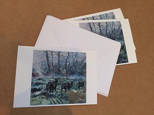 4 cards 'Park Dawn'