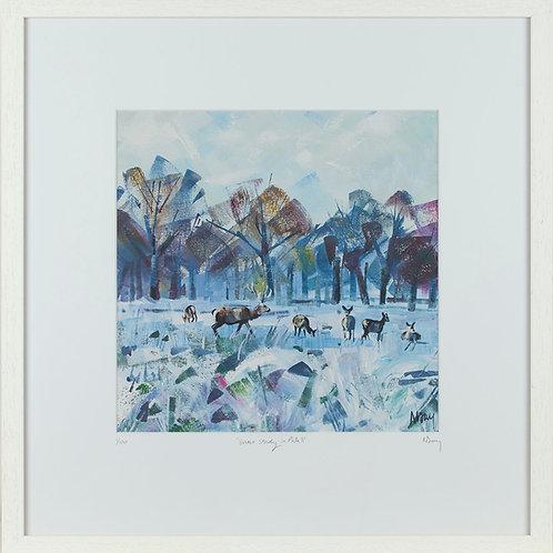 'Snow Study in Park II' 50x50cm