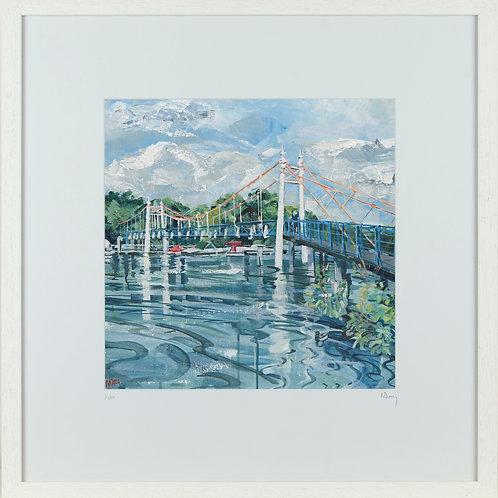 'Teddington Footbridge' 50x50cm