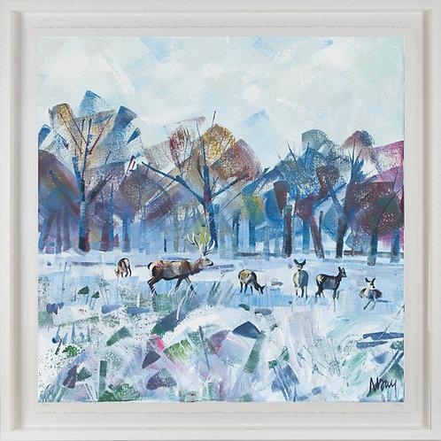 'Snow Study in Park II' 80x80cm