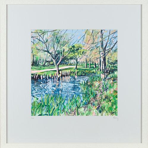 'Park Stream' 50x50cm