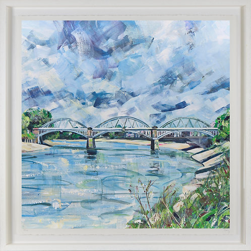 'Barnes Bridge' 80x80cm