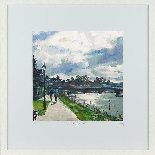 'Thames Towpath' 50x50cm