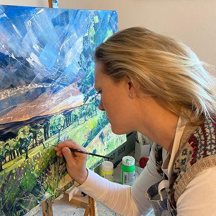 Nadia Day painting