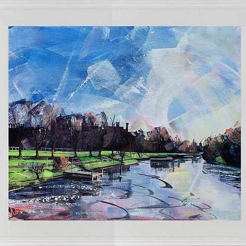 'Hampton Court Sunrise' 80x70cm
