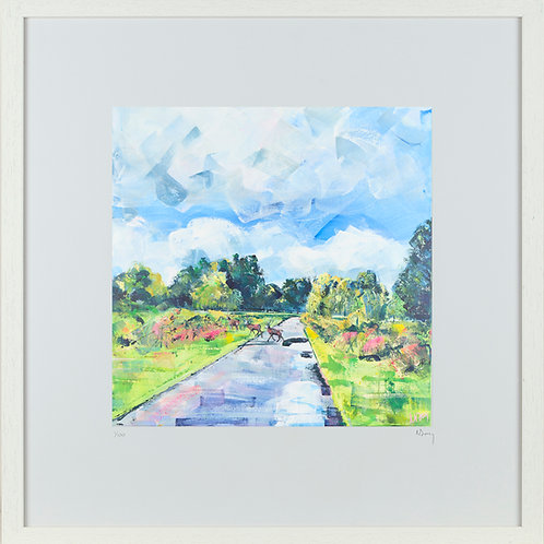 'Wet Ferns' 50x50cm