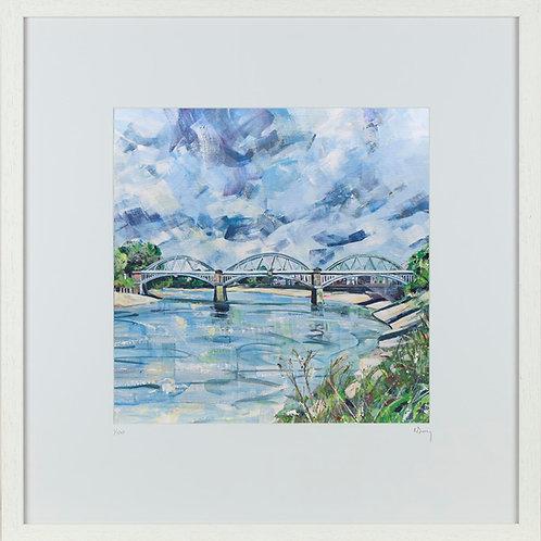 'Barnes Bridge' 50x50cm