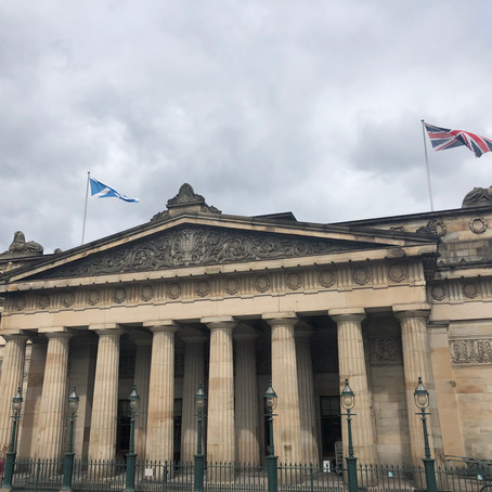 Greeting 'Old Friends' at Edinburgh's Scottish National Gallery