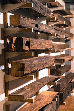 authentic reclaimed wood beam mantels