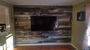Accent walls made from reclaimed wood. For home or businss, partitio and privacy