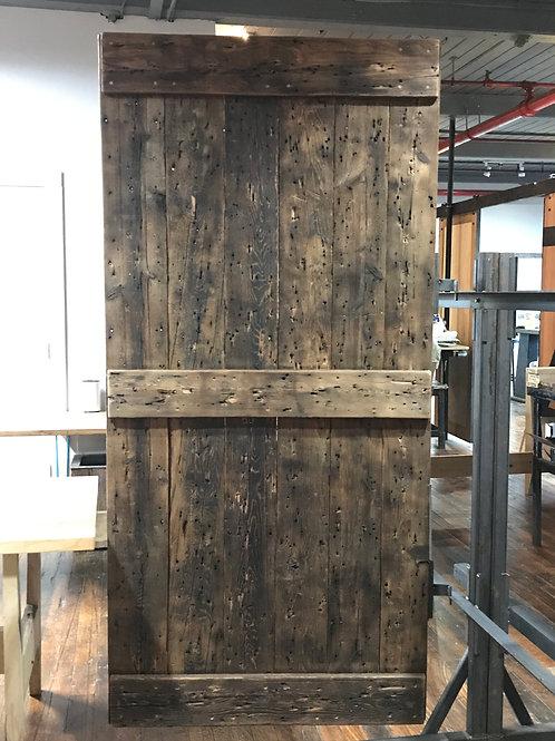 Reclaimed Wood Barn Door - Roofing Boards