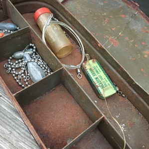 Old tackle box from Shelton Barn