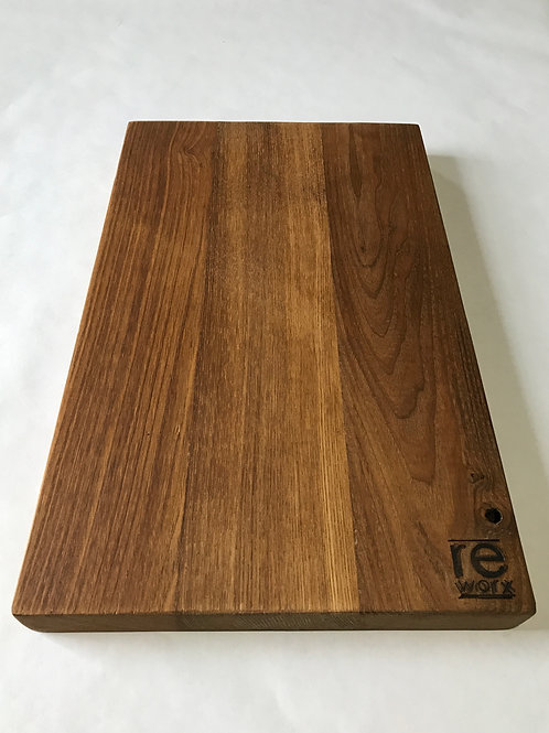 Reclaimed Wood Butcher Block Serving Board - American Chestnut