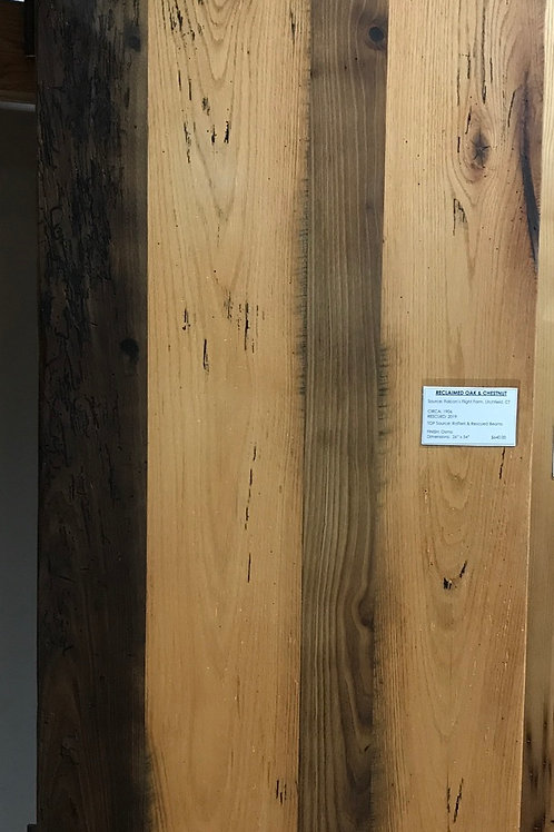 Reclaimed Wood Table Top - 54 x 26 - American Chestnut and White Oak