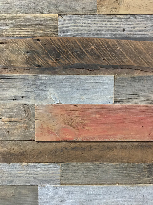 Reclaimed Wood - Mix of Color - Authentic BARN WOOD wall board cladding