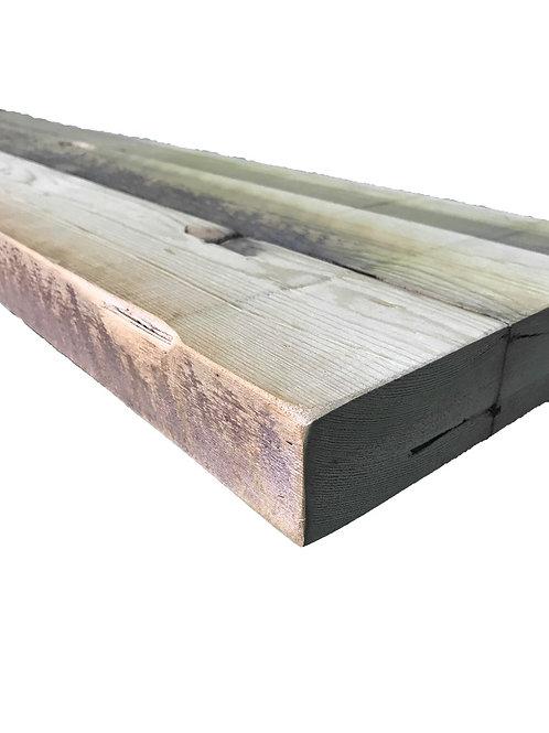 Reclaimed Wood -  48 x 10 Authentic BARN WOOD Floating Shelf