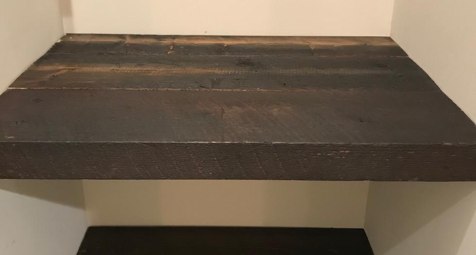 Relcaimed Wood floating Shelves