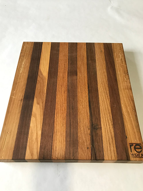 Reclaimed Wood Serving Board -Black walnut & Oak