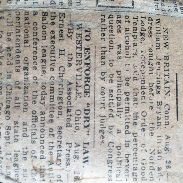 Old Newspaper From Shelton Barn
