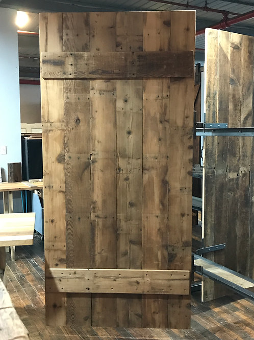 Reclaimed Wood Barn Door - Floating Plank