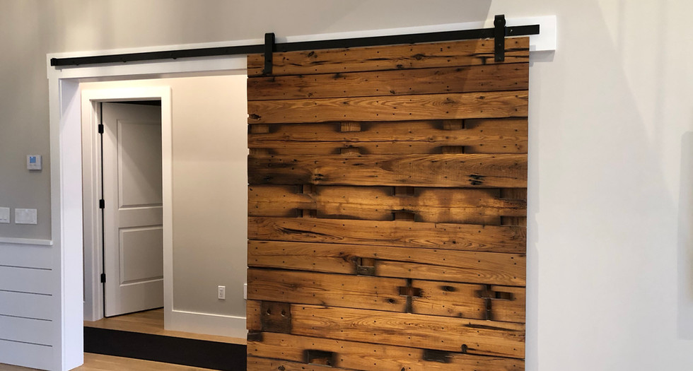 Barnwood Rafter Sliding Door