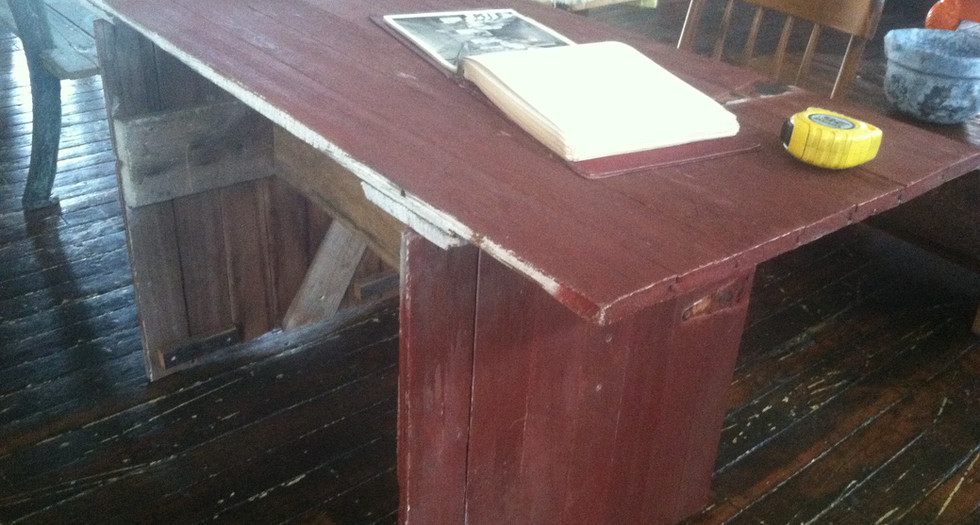 barnwood desk