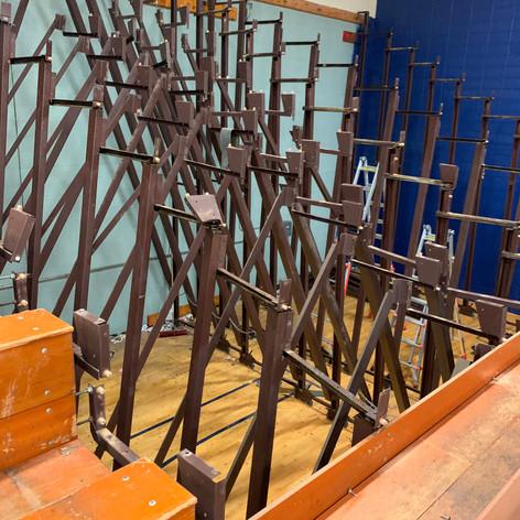 Iron framework for Vintage Bleachers