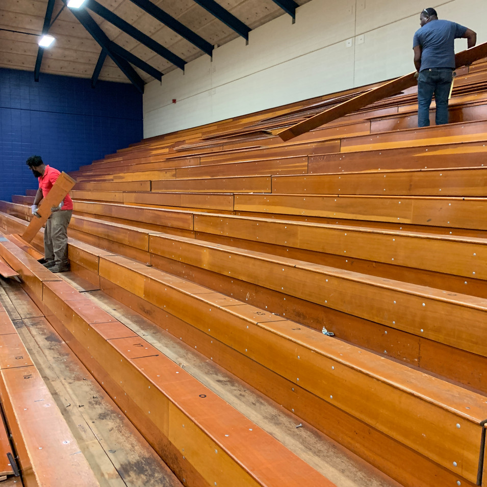 Vintage Bleachers from Trinity College