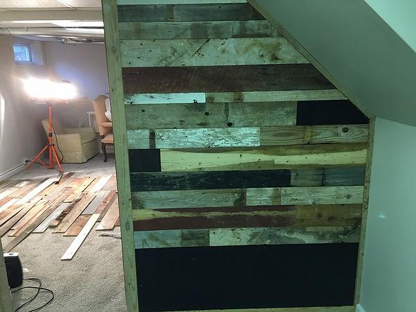 barn wood wall intallation