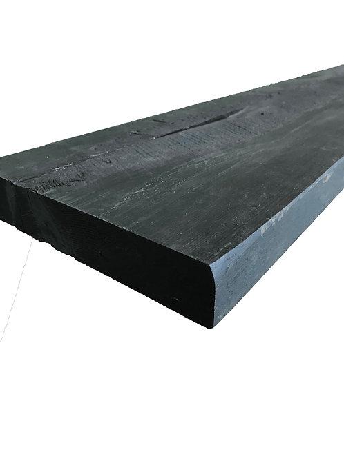 Reclaimed Wood - 60 x 10 Authentic BARN WOOD Shelf - Black