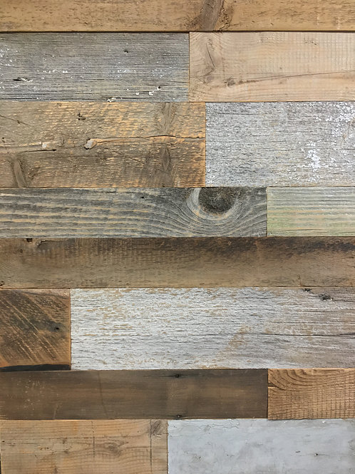 Reclaimed Wood - Both Grays & Browns - Authentic BARN WOOD wall board Cladding