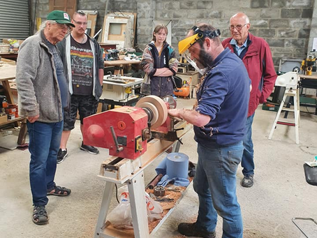 Cardished, pyrography, woodturning and men's health week
