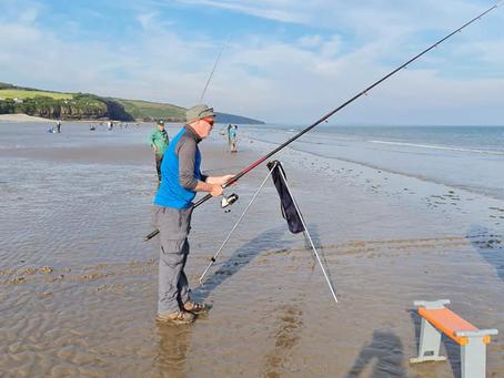 Fishing off Amroth