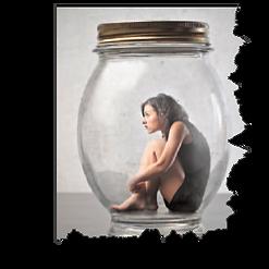 c'est une dame enfermé dans une bulle sans aucune perspéctive d'avenir