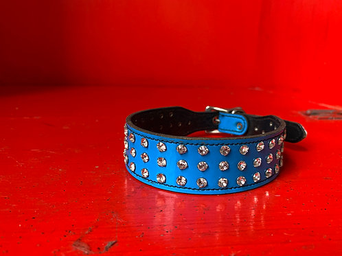 Blue Rhinestone Collar