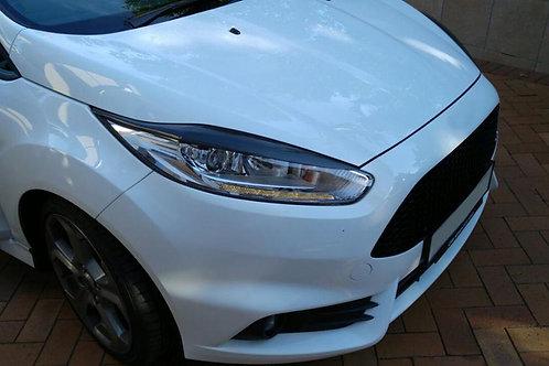 Carbon Fibre Headlight Eyebrows for Ford Fiesta MK7.5 (13 - 17)