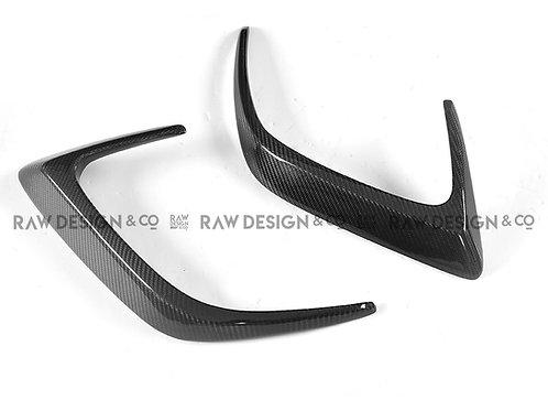 Carbon Fibre Rear Aero Flicks for Mercedes C63 AMG Coupe W205