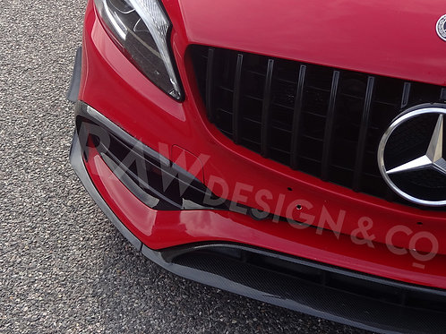 Carbon Fibre Front Aerodynamics Kit for Mercedes A45 AMG