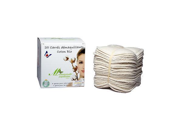 Carré Démaquillants Coton Bio - Certifié Oeko-Tex