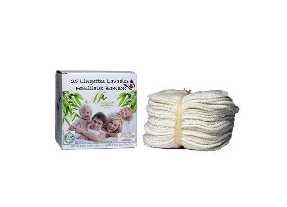 Lingettes Familiales Lavables Bambou - Certifié Oeko-Tex